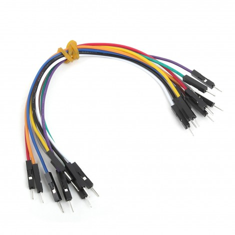 MikroElektronika Wire Jumpers Male to Male (15 cm length, 10pcs)